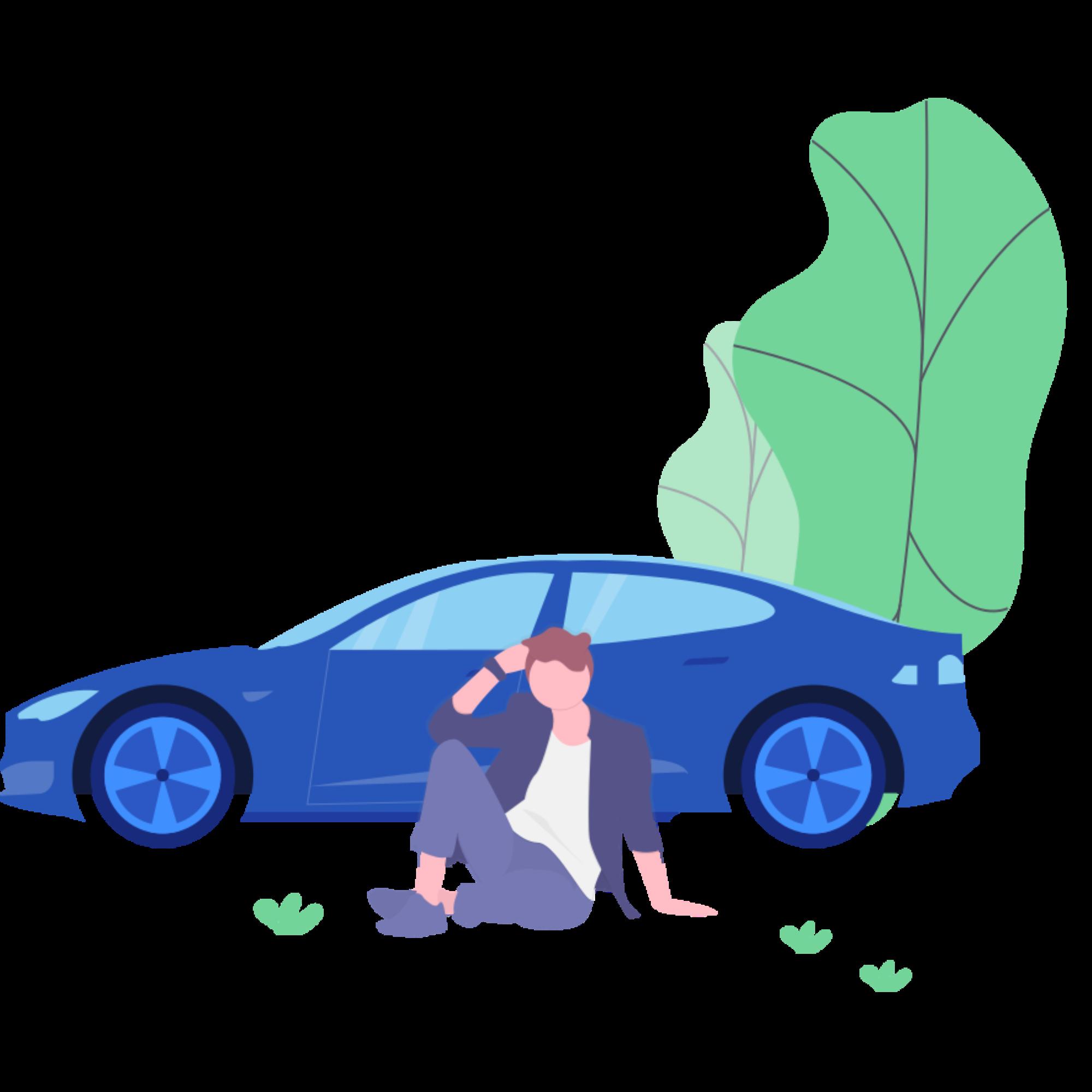 Autopflege Grünwald Illustration